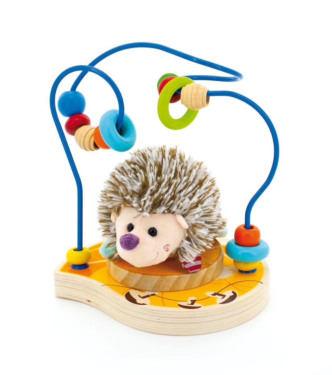 Мир деревянных игрушек Лабиринт Ежик игрушка мир деревянных игрушек лабиринт буренка д384