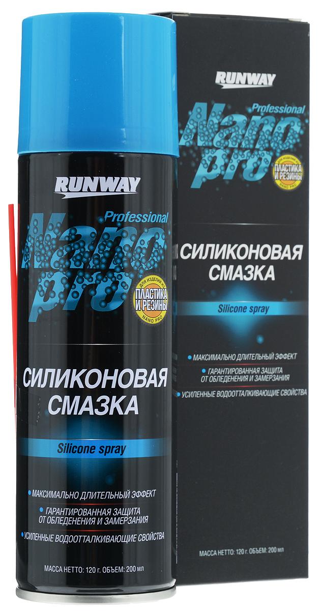 Силиконовая смазка Runway NanoPro, 200 млRW6142Силиконовая смазка Runway NanoPro c новейшей нано-формулой разработана для смазки, защиты и восстановления изделий из пластика и резины. Силиконовая смазка уменьшает трение, обеспечивает качественную смазку, увеличивает срок эксплуатации резиновых изделий. Состав образует полимерный слой с водоотталкивающим эффектом, который благодаря нано-формуле создает наиболее надежную долговременную защиту от влаги, окисления и коррозии. Предотвращает обледенение и замерзание резиновых уплотнителей, дверных замков и подвижных элементов. Состав обновляет и защищает резину, винил и кожу от проникновения ультрафиолетовых лучей. Товар сертифицирован.
