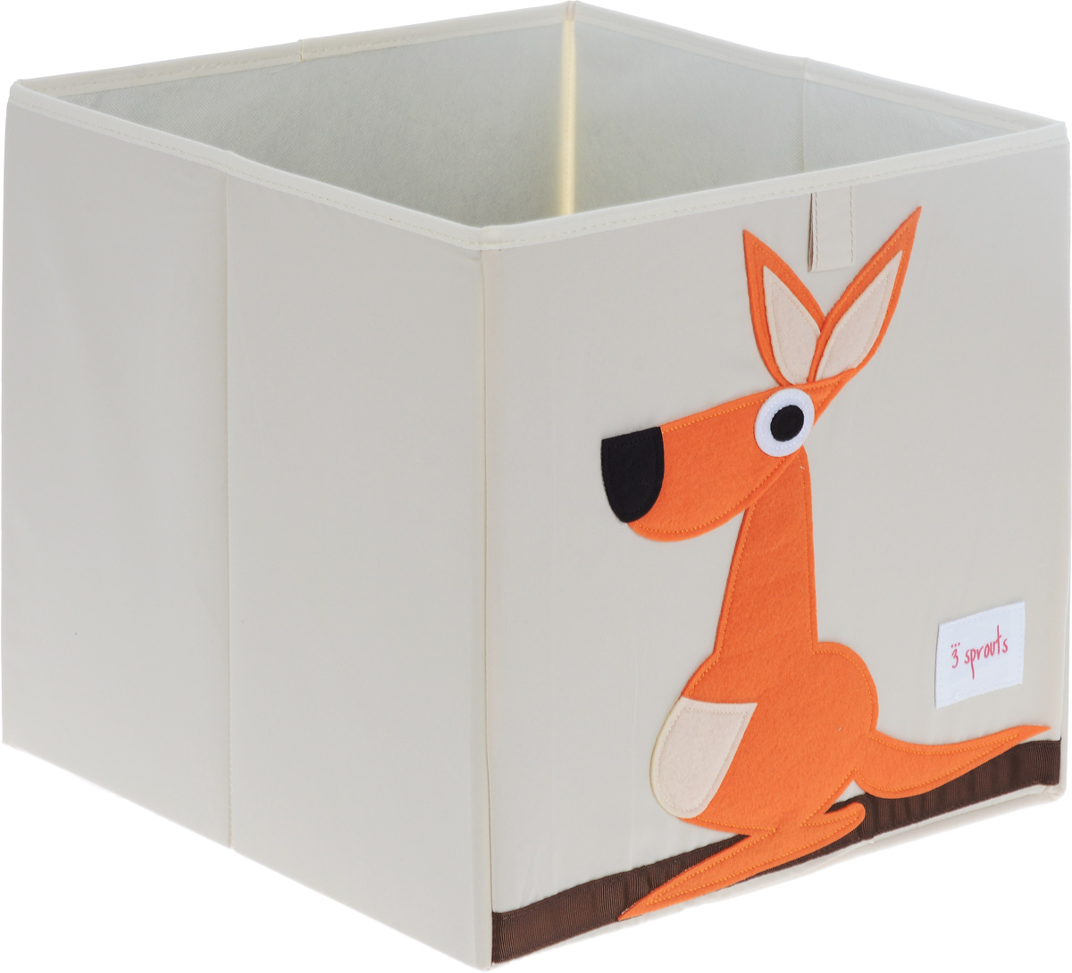 3 Sprouts Коробка для хранения Кенгуру67631Универсальная коробка для хранения 3 Sprouts Кенгуру - это отличный вариант организации пространства любой комнаты.Стороны коробки усилены с помощью картона, поэтому она всегда стоит ровно. Помещается практически во все стеллажи с квадратными отсеками и добавляет озорства любой комнате. Стоит ли коробка отдельно или на полке стеллажа, она обеспечит прекрасную организацию в вашем доме.Уход: снаружи - только выведение пятен.