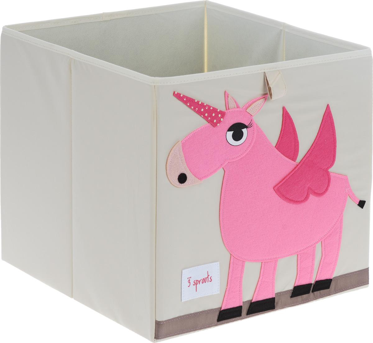 3 Sprouts Коробка для хранения Единорог