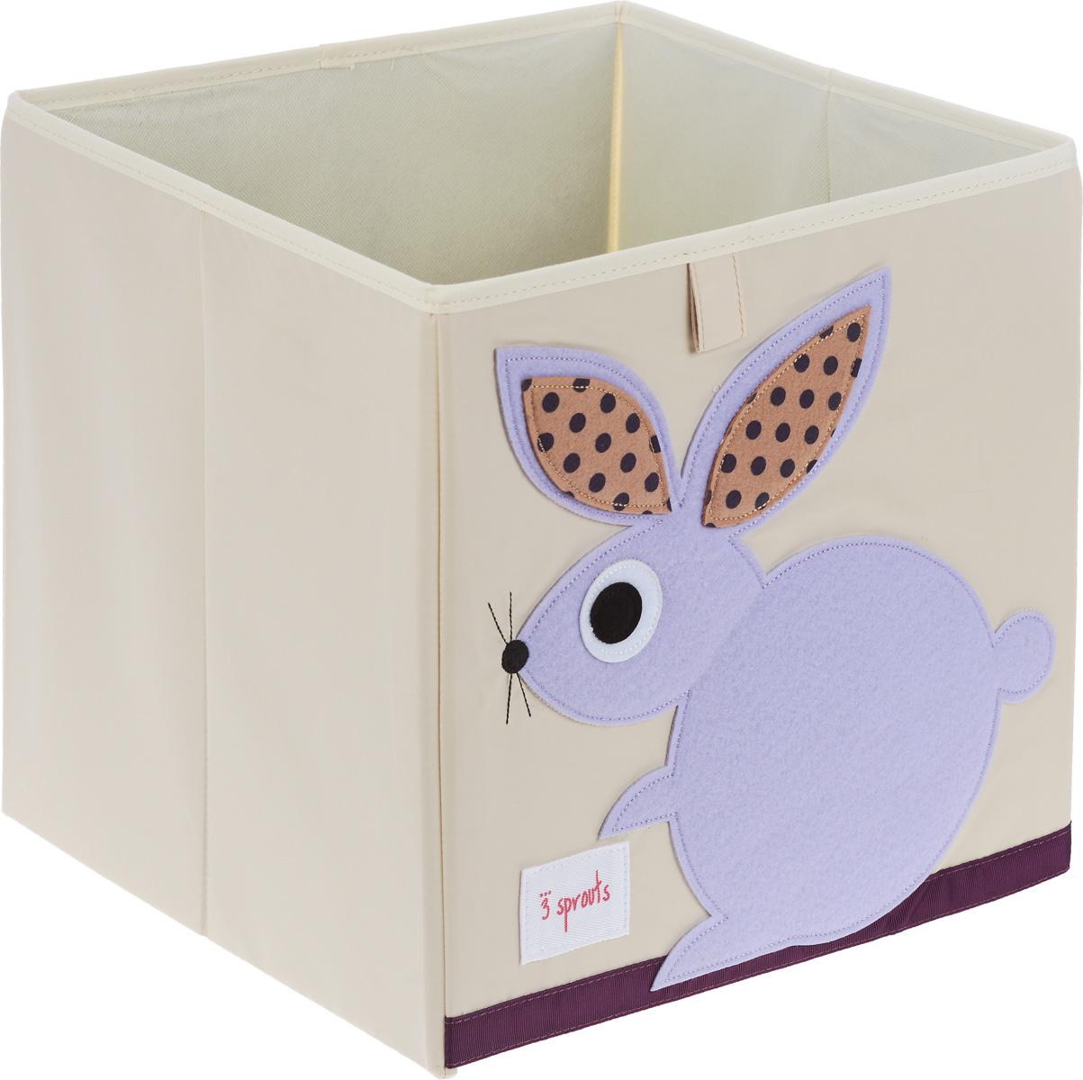 3 Sprouts Коробка для хранения Кролик27251Коробка для хранения 3 Sprouts Кролик - это отличный вариант организации пространства любой комнаты.Стороны коробки усилены с помощью картона, поэтому она всегда стоит ровно. Помещается практически во все стеллажи с квадратными отсеками и добавляет озорства любой комнате. Стоит ли коробка отдельно или на полке стеллажа, она обеспечит прекрасную организацию в вашем доме.Уход: снаружи - только выведение пятен.