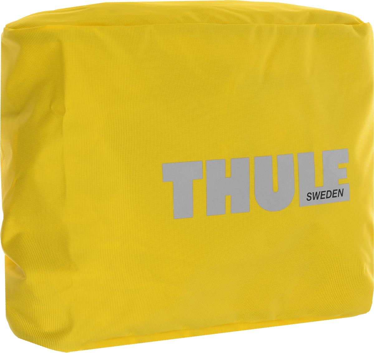 Чехол-дождевик для сумки Thule Pannier, цвет: желтый1000406Чехол-дождевик для сумки Thule Pannier предназначен для использования с велосипедными сумками Thule Packn Pedal Large Pannier. Чехол выполнен из прочного водонепроницаемого материала. Благодаря эластичной резинке легко и просто одевается на сумку. С таким чехлом ваша велосипедная сумка не промокнет, и все содержимое останется сухим. Гид по велоаксессуарам. Статья OZON Гид
