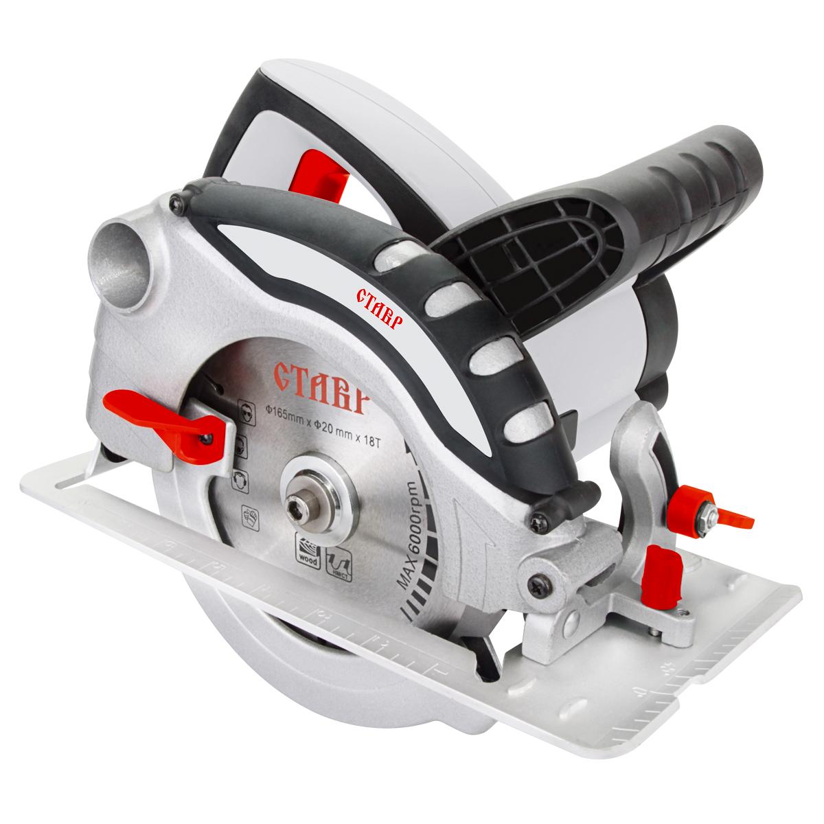 Пила дисковая Ставр ПДЭ-165/1300ст165-1300пдэЭлектрическая дисковая пила Ставр ПДЭ-165/1300 предназначена для распиловки заготовок из древесины. Дополнительная рукоятка обеспечивает комфортный рабочий процесс. Угол пропила регулируется в диапазоне от 0 до 45° градусов. Для поддержания чистоты рабочего места можно подключить пылесос или мешок для сбора пыли. Комплектация: пила, установленный пильный диск, параллельный упор, ключ для крепления диска, угольные щетки (комплект), инструкция.Напряжение сети, В: 220. Частота, Гц: 50. Мощность, Вт: 1300. Число оборотов/мин: 4500. Размер диска, мм: 165. Максимальная глубина пропила, мм: 55 (90°) 38 (45°). Посадочный размер, мм: 20. Длина шнура питания, м: 3.