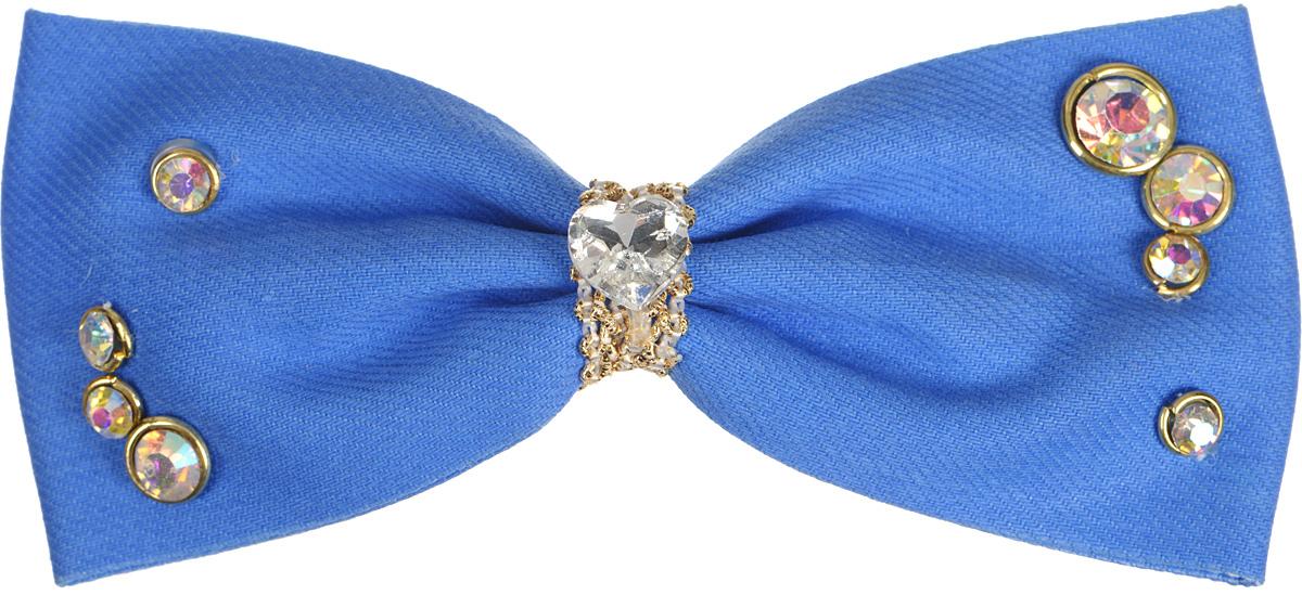 Заколка для волос женская Fashion House, цвет: ярко-голубой. FH29759