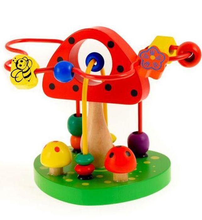 Развивающие деревянные игрушки Лабиринт Грибочек цена