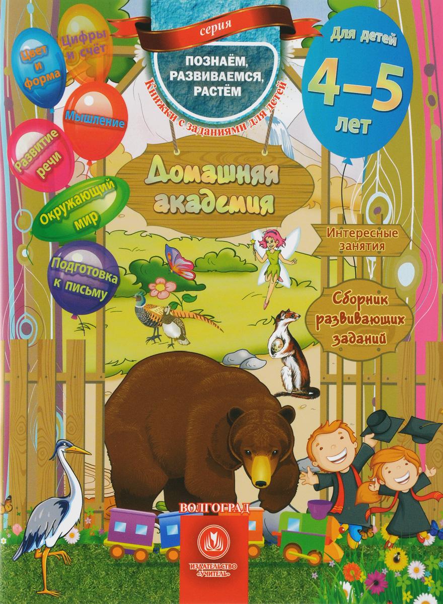 Евгения Ищук Домашняя академия Сборник развивающих заданий для детей 4-5 лет