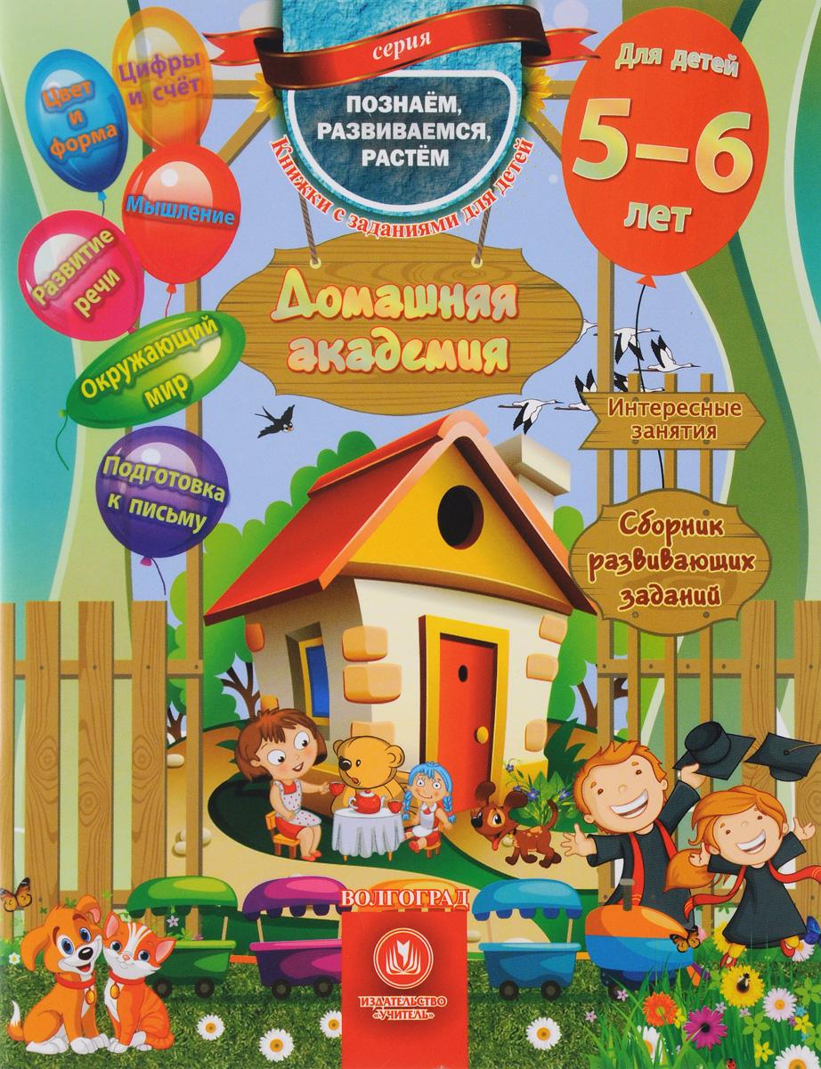 Домашняя академия. Сборник развивающих заданий для детей 5-6 лет