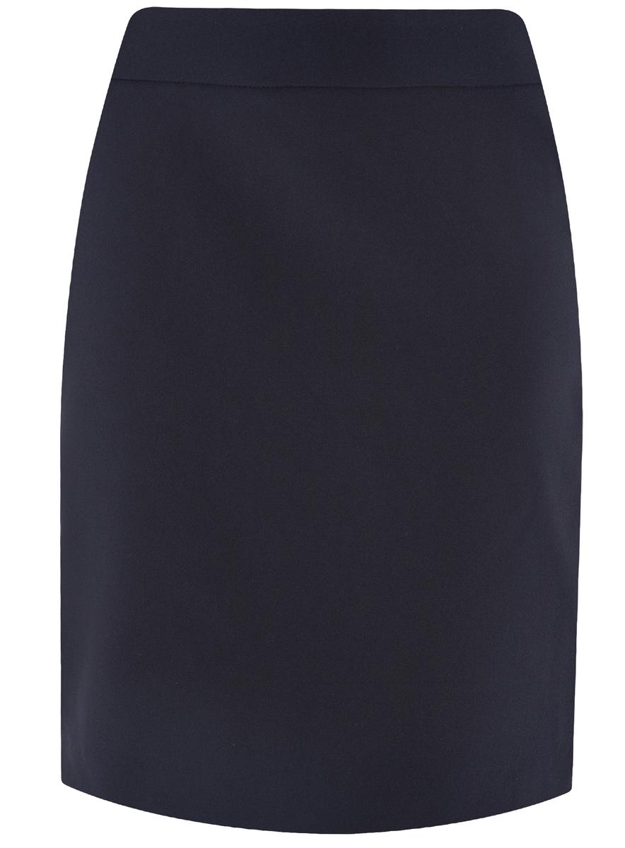 Юбка oodji Ultra, цвет: темно-синий. 11601204-1/42250/7900N. Размер 34 (40-170)