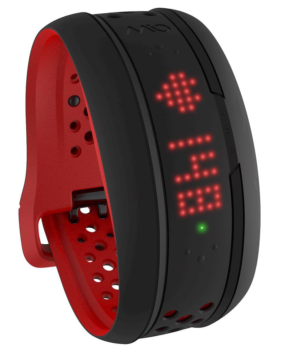 Фитнес-трекер Mio Fuse, цвет: черный, красный. 59P-LRG-INT mio fuse