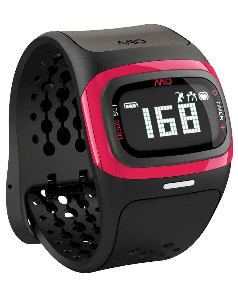 Спортивные часы Mio Global Alpha 2, цвет: черный, розовый. 58P-PNK58P-PNKMio Global Alpha 2 - это спортивные часы с высокоточным оптическим пульсометром и одновременно фитнес-трекер, которые могут работать как самостоятельно, так и в паре с популярными фитнес-приложениями на смартфонах на базе iOS и Android.Особенности:- Датчик пульса (MIO Optical Heart Rate Technology),- Подключается к смартфону по Bluetooth Smart (Bluetooth 4.0),- Отображение пульса на дисплее в режиме реального времени,- Часы, хронограф и различные таймеры для режима тренировки,- Подсчет ежедневной активности (шаги, калории, дистанция),- Отображение данных тренировки на дисплее (темп, скорость, дистанция),- Подсчет затраченных калорий исходя из нагрузки на сердце (пульса),- Звуковые уведомления при переходе между зонами пульса,- RGB-светодиод, индицирующей одну из пяти пульсовых зон,- Монохромный ЖК-дисплей с подсветкой / водонепроницаемость - 30 м,- Аккумулятор: 3 месяца в базовом режиме / 20-24 часа в режиме тренировки,- Память: 14 дней в базовом режиме / до 25 часов данных тренировок,- Совместимость: iPhone & Android / собственные приложения и популярные сторонние.