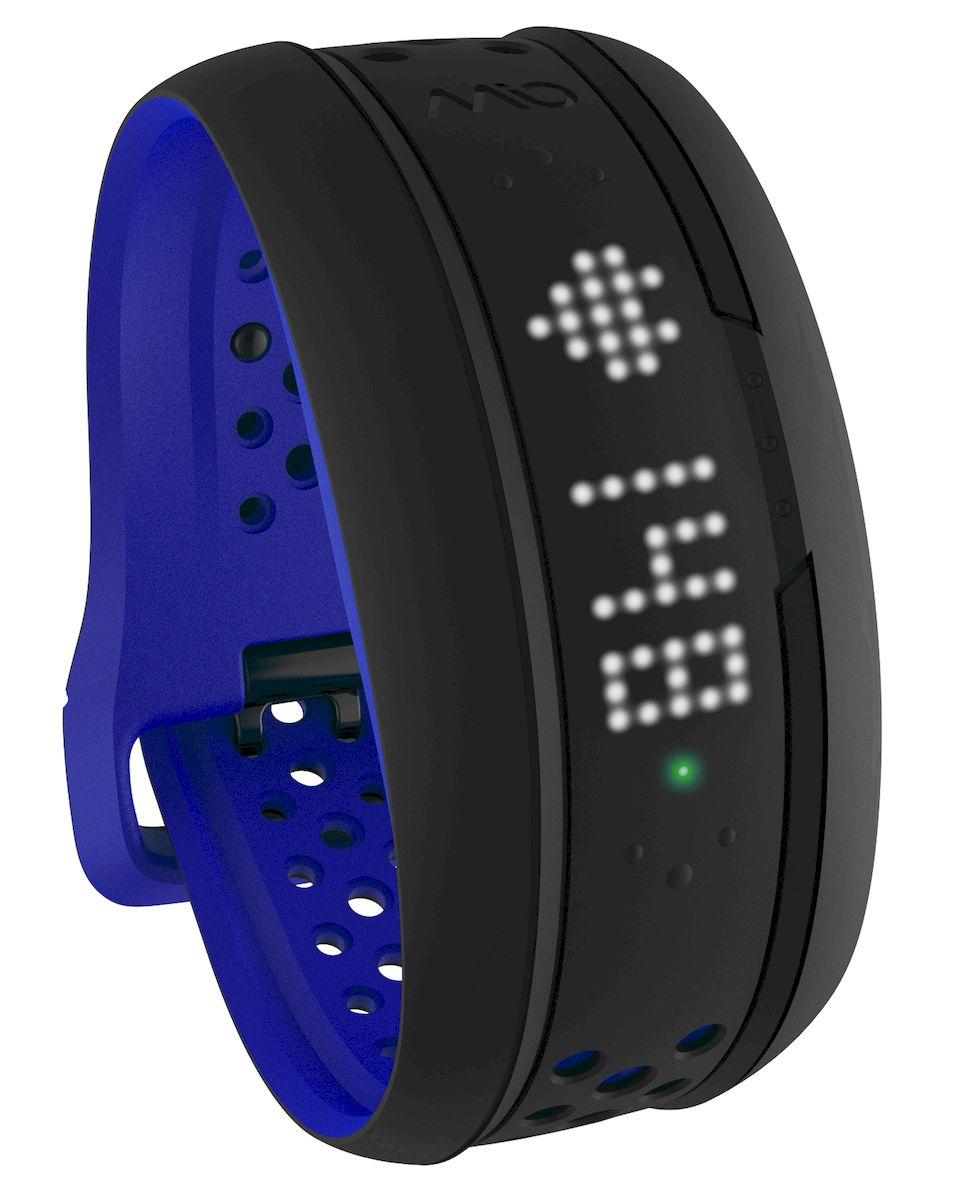 Фитнес-трекер Mio FUSE Cobalt Large, цвет: черный, синий mio fuse