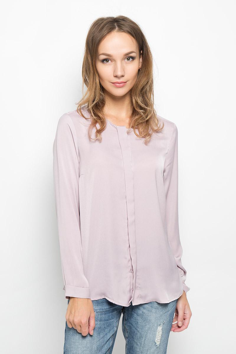 Блузка женская Baon, цвет: бледно-сиреневый. B176531. Размер M (46)  - купить со скидкой