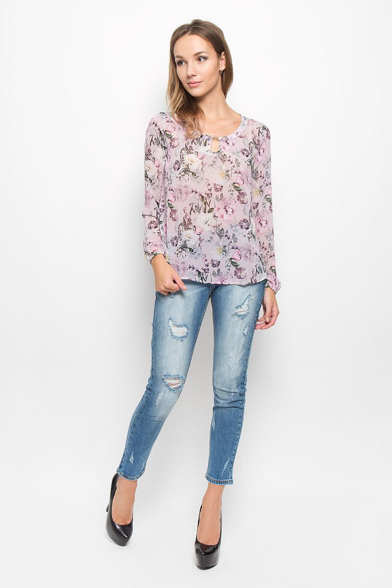 Купить Блузка женская Sela Casual, цвет: пепельно-розовый. Tw-112/1071-6310. Размер 44
