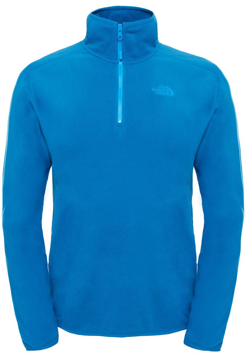 Толстовка мужская The North Face M 100 Glacier 1/4 Zip, цвет: голубой. T92UARM19. Размер L (48/50)T92UARM19Толстовка поможет сохранить тепло и свободу движения на более высоких участках пути во время экспедиций как в ясную, так и в пасмурную погоду. Флис Polartec Classic отличается легким весом и обеспечивает исключительное тепло, в то же время сохраняя свободу движения и комфорт в течение продолжительного времени. Застежка-молния на воротнике обеспечивает дополнительный воздухообмен в период высокой активности. Толстовку можно носить как самостоятельно, так и в качестве слоя утеплителя.
