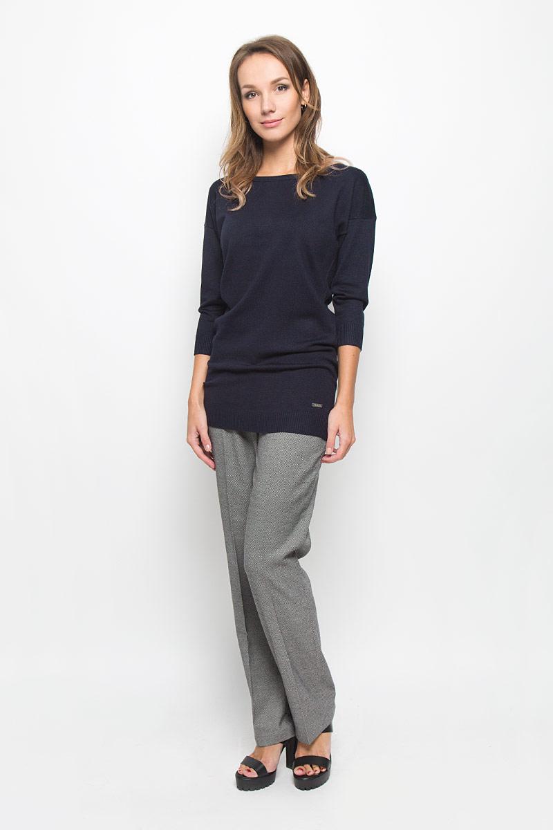 Джемпер женский Baon, цвет: темно-синий. B166539. Размер XL (50) джемпер женский baon цвет серый меланж b166521 размер xl 50