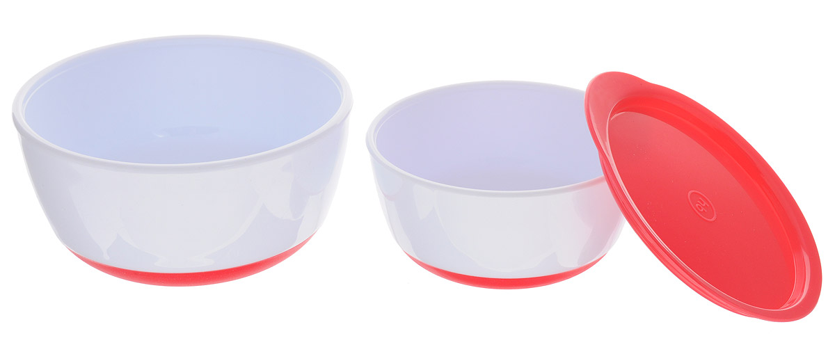 Happy Baby Набор детских тарелок с крышкой цвет красныйAVCARN14013Набор детских тарелок Happy Baby включает в себя две тарелки и крышку.Глубокие тарелки отлично подойдут для ребенка от 6 месяцев, сделав процесс кормления приятным и комфортным. Благодаря герметичной крышке на маленькой тарелке ее можно взять с собой. Удобно для хранения продуктов. Нескользящее дно тарелочек предотвращает от случайного падения и проливания.Не содержит бисфенол А.