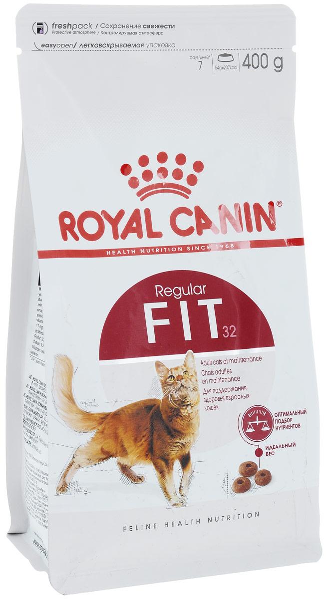Корм сухой Royal Canin Fit 32 для кошек, имеющих доступ на улицу, 400 г. 62377 корм сухой royal canin exigent 35 30 savoir sensation для кошек привередливых к вкусу продукта 400 г