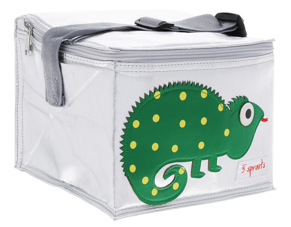 3 Sprouts Сумка для обеда Зеленая игуана00001Сумка для обеда 3 Sprouts Зеленая игуана идеальна для контейнеров, так что вы можете отправить детей в школу вместе с сытными закусками и обедами. В этой сумке еда не нагреется. Мыть ее чрезвычайно легко. Специальная бирка на внутренней поверхности сумки предназначена для указания имени ребенка. Прочная застежка-молния, хорошая вместительность, стильный серебристый цвет и красивая аппликация делают использование этой сумки удобным и приятным для ребенка. Регулируемый ремешок с защелкой позволит прикрепить сумку к рюкзаку или другой сумке.Сумка изготовлена без применения фталатов, PVC и свинца.