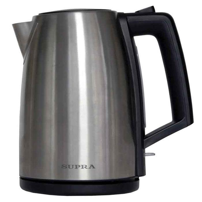 Supra KES-1736 электрический чайникKES-1736Чайник Supra KES-1736 мощностью 2200 Вт и объемом 1,7 л в стильном корпусе из высококачественной нержавеющей стали позволит легко и быстро вскипятить воду для любимых горячих напитков. Компактная модель совмещает в себе все важные функции, которые позволят комфортно пользоваться чайником. Устройство автоматически отключается, когда вода в нем закипает и не включается, если воды в чайнике недостаточно. Более того, во время работы чайника горит соответствующий индикатор. Удобство использования чайника дополняется стильным дизайном. Именно поэтому данная модель прекрасно смотрится в любом кухонном интерьере.