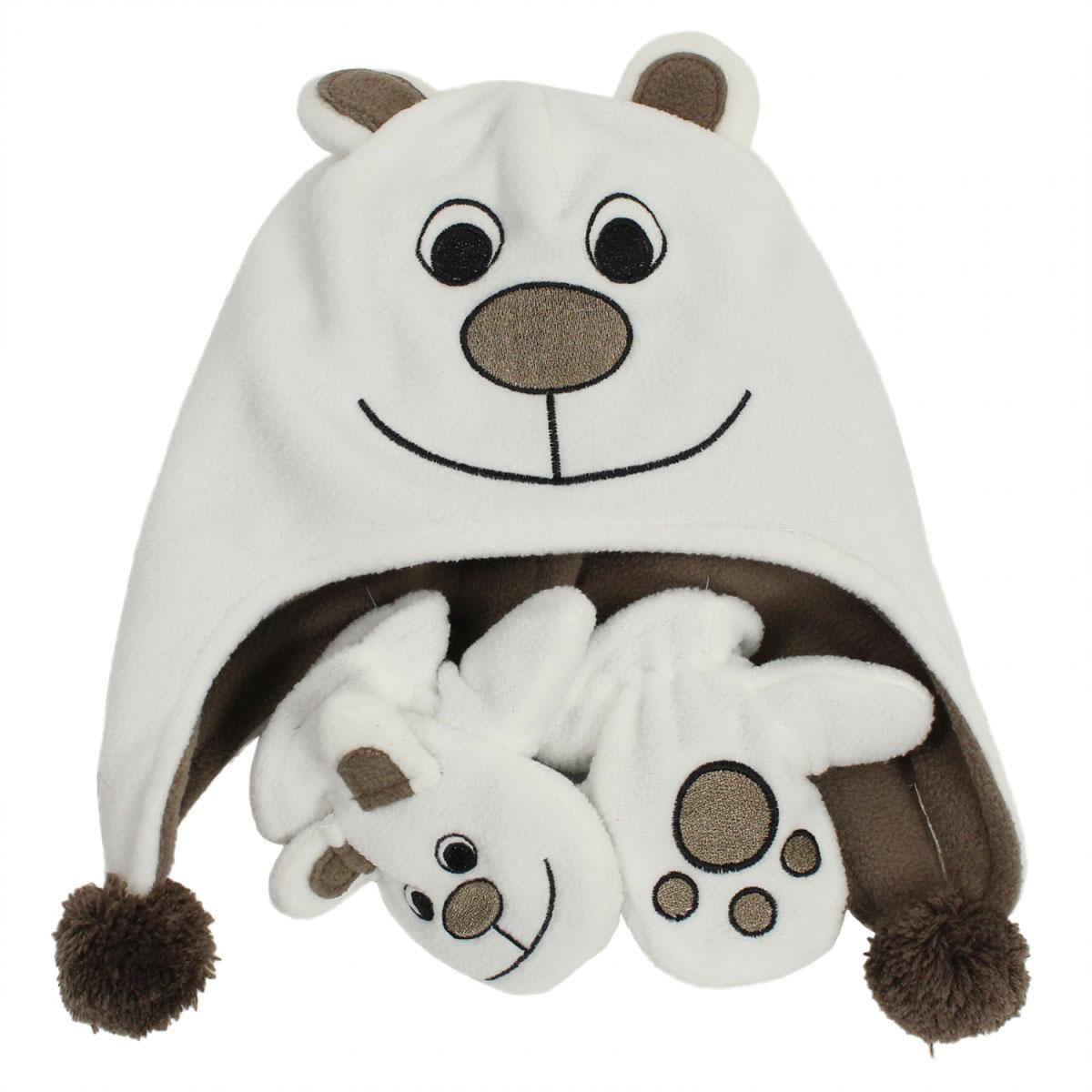 Флисовый комплект для малышей Huppa BRUNO, цвет: белый. 8819AS14-010. Размер 1 (48) детский комплект huppa 4172cs15 размер 104 цвет 391