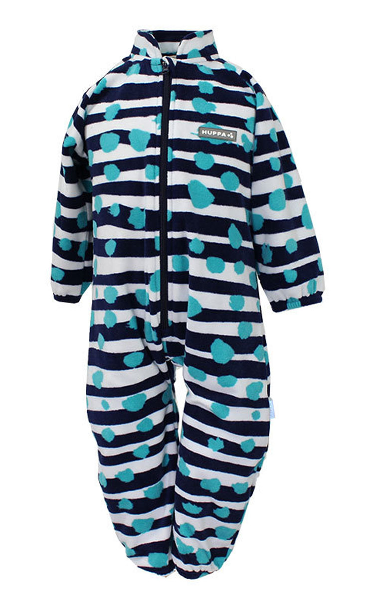 Комбинезон флисовый детский Huppa Roland, цвет: темно-синий, белый, голубой. 3304BASE-63386. Размер 923304BASE-63386Детский комбинезон Huppa Roland - очень удобный и практичный вид одежды для малышей. Комбинезон выполнен из флиса, благодаря чему он необычайно мягкий и приятный на ощупь, не раздражает нежную кожу ребенка и хорошо вентилируется. Комбинезон с длинными рукавами и воротником-стойкой застегивается на пластиковую молнию с защитой подбородка. Рукава и штанины дополнены эластичными резинками. Спереди модель дополнена небольшой нашивкой с названием бренда. С детским комбинезоном спинка и ножки вашего ребенка всегда будут в тепле.