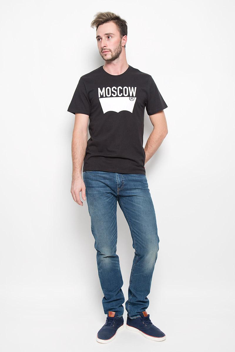 Джинсы мужские Levis® 508, цвет: синий. 1650805200. Размер 33-34 (48/50-34)1650805200Мужские джинсы Levis® 508, выполненные из качественного денима, станут отличным дополнением к вашему гардеробу. Ткань плотная, тактильно приятная, позволяет коже дышать.Джинсы прямого кроя застегиваются на металлическую пуговицу и имеют ширинку на застежке-молнии. На поясе предусмотрены шлевки для ремня. Модель имеет классический пятикарманный крой: спереди - два втачных кармана и один маленький накладной, а сзади - два накладных кармана. Изделие оформлено легким эффектом потертости и контрастной прострочкой. Отличное качество, дизайн и расцветка делают эти джинсы стильным и модным предметом мужской одежды.