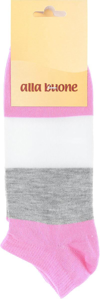 Носки женские Alla Buone, цвет: розовый, серый, белый. CD033. Размер 23 (35-37)033CDУдобные носки Alla Buone, изготовленные из высококачественного комбинированного материала, очень мягкие и приятные на ощупь, позволяют коже дышать. Эластичная резинка плотно облегает ногу, не сдавливая ее, обеспечивая комфорт и удобство. Носки с укороченным паголенком оформлены широкими контрастными полосками. Практичные и комфортные носки великолепно подойдут к любой вашей обуви.