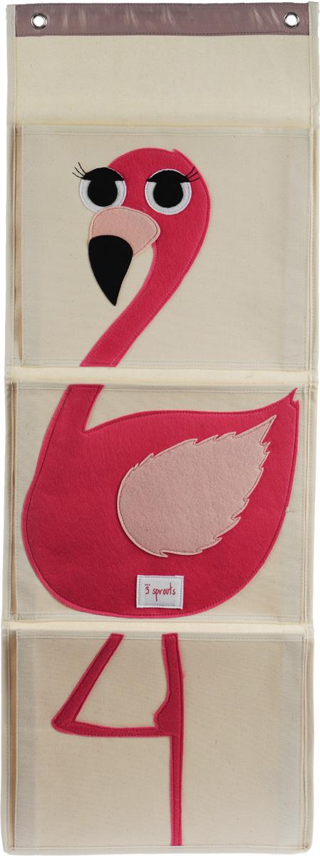 3 Sprouts Органайзер настенный Фламинго -  Товары для хранения