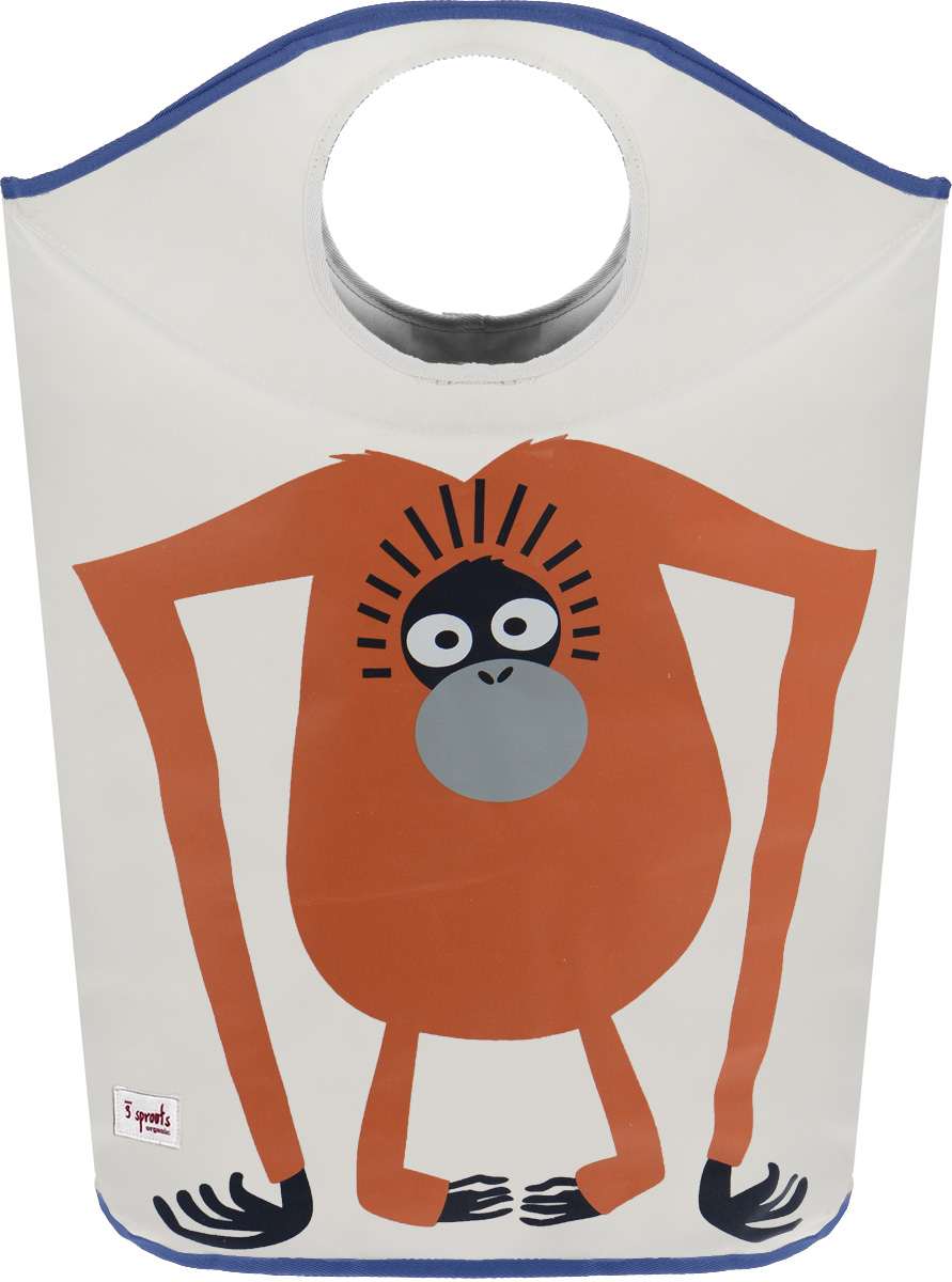 3 Sprouts Корзина для белья Орангутан41672Корзина для хранения 3 Sprouts Орангутан поможет вам навести порядок в детской. Кажется, что грязное бельё завоёвывает комнату вашего ребёнка? Корзина для белья от 3 Sprouts - идеальное решение. Размер корзины позволяет хранить в ней игрушки, книжки или белье. Две огромные ручки складываются, образуя удобное отверстие, в которое можно складывать бельё. А когда нужно вынуть содержимое - вытяните ручки и с легкостью освободите корзину. Корзина очень мобильна, и вы без труда можете перенести её из комнаты в ванну. Изготовлена из 100% прочного полиэстера и декорирована забавной аппликацией. Корзина складывается до плоского состояния, когда в её использовании нет необходимости.Корзина для хранения вещей - идеальный подарок для новорожденных, младенцев и детей.