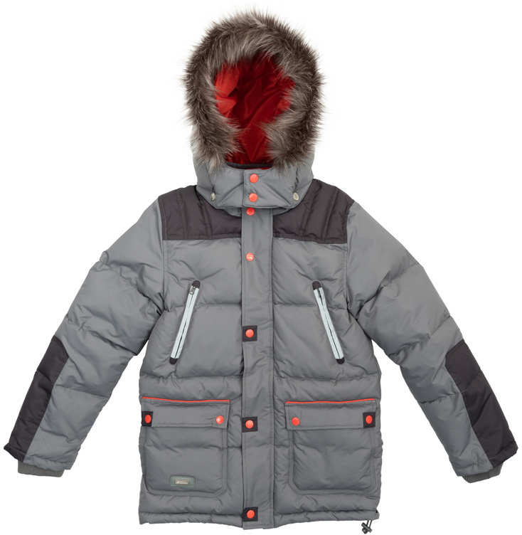 Куртка для мальчика Scool, цвет: серый, оранжевый. 363120. Размер 134363120Удлиненная куртка для мальчика выполнена из непромокаемого материала с отстегивающимся капюшоном. Стильный цвет позволяет сочетать ее с любой одеждой. Куртка застегивается на молнию и имеет ветрозащитную планку на кнопках и трикотажные манжеты на рукавах. Спереди куртка дополнена двумя накладными карманами с клапанами на кнопках и двумя прорезными карманами на застежках-молниях. Низ и капюшон изделия утягиваются стопперами. Внутри есть специальная ветрозащитная юбочка, застегнув которую вы надежно защитите ребенка от снега, дождя и ветра.
