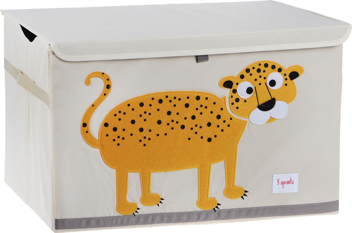 3 Sprouts Сундук для хранения игрушек Леопард сундук из перфорированного металла bretty