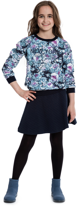 Юбка для девочки Scool, цвет: темно-синий. 364171. Размер 134364171Стильная трикотажная юбка выполнена из мягкого футера с имитацией стежки. Сзади застегивается на молнию с фигурным пуллером. Пояс на внутренней резинке обеспечивает удобную посадку модели по фигуре.