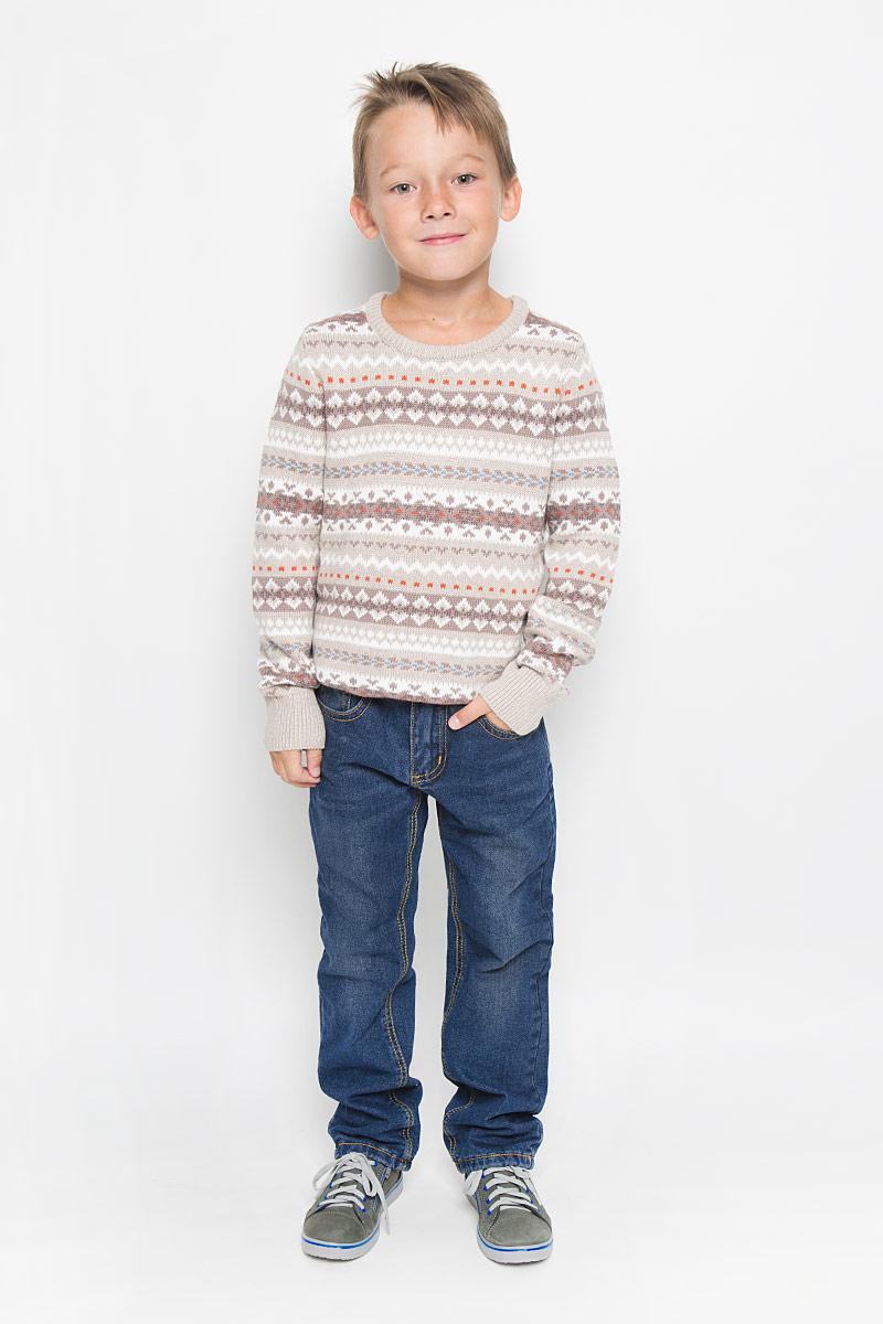 Джинсы для мальчика Sela Denim, цвет: синий джинс. PJ-835/852-6342. Размер 128, 8 летPJ-835/852-6342Утепленные стильные джинсы для мальчика Sela Denim идеально подойдут юному моднику для отдыха и прогулок. Изготовленные из натурального хлопка, они мягкие и приятные на ощупь, не сковывают движения и позволяют коже дышать, обеспечивая наибольший комфорт. Подкладка из хлопка с добавлением полиэстера.Джинсы прямого кроя, на талии застегиваются на металлическую пуговицу и имеют ширинку на застежке-молнии, а также шлевки для ремня. С внутренней стороны пояс регулируется скрытой резинкой на пуговицах. Модель имеет классический пятикарманный крой: спереди - два втачных кармана и один маленький накладной, а сзади - два накладных кармана. Оформлено изделие контрастной прострочкой и легким эффектом потертости. Современный дизайн и расцветка делают эти джинсы модным предметом детской одежды. В них ребенок всегда будет в центре внимания!