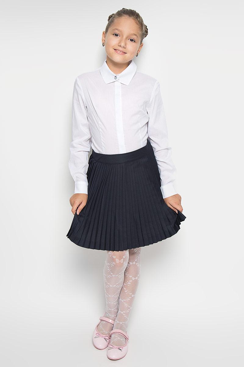 Блузка для девочки Nota Bene, цвет: белый. CWR26014B. Размер 152CWR26014A/CWR26014BБлузка для девочки Nota Bene, выполненная из высококачественного комбинированного материала, станет отличным дополнением к школьному гардеробу. Изделие не сковывает движения и хорошо пропускает воздух, обеспечивая наибольший комфорт. Блузка с отложным воротником и длинными рукавами застегивается на пуговицы скрытые под планкой. На рукавах предусмотрены манжеты с застежками-пуговицами. Блузка отлично сочетается с юбками и брюками. В ней вашей принцессе всегда будет уютно и комфортно!