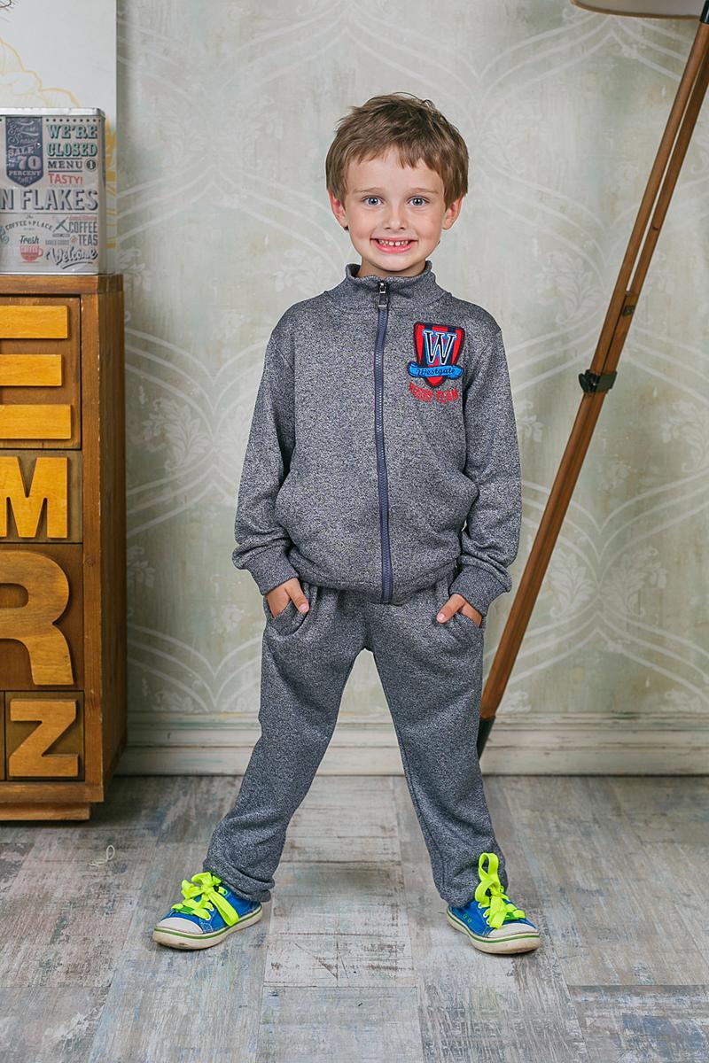 Брюки спортивные для мальчика Sweet Berry, цвет: темно-серый. 206357. Размер 98