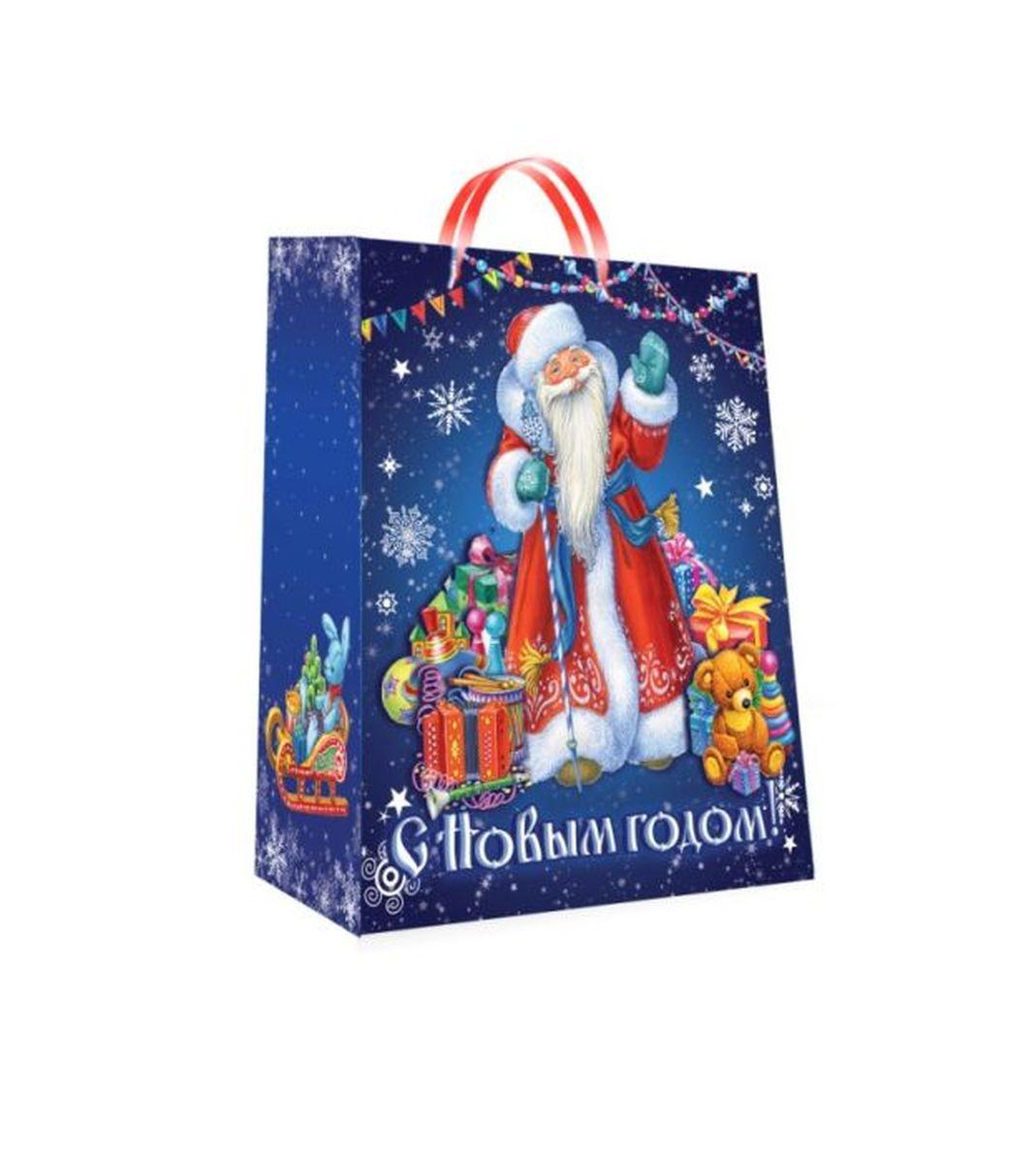 """Подарочный пакет Magic Time """"Дед Мороз"""", изготовленный из плотной бумаги, станет  незаменимым дополнением к выбранному подарку. Пакет выполнен с глянцевой  ламинацией, что придает ему прочность, а  изображению - яркость и насыщенность цветов.  Подарок, преподнесенный в оригинальной упаковке, всегда будет самым  эффектным и запоминающимся. Окружите близких людей вниманием и заботой,  вручив презент в нарядном, праздничном оформлении. Плотность бумаги: 140 г/м2."""