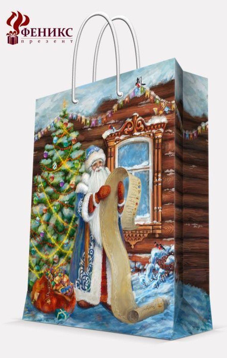 Пакет подарочный Magic Time Дед Мороз со списком, 26 х 32,4 х 12,7 см38560Подарочный пакет Magic Time Дед Мороз со списком, изготовленный из плотной бумаги, станет незаменимым дополнением к выбранному подарку. Пакет выполнен с глянцевой ламинацией, что придает ему прочность, а изображению - яркость и насыщенность цветов. Для удобной переноски на пакете имеются две ручки из шнурков.Подарок, преподнесенный в оригинальной упаковке, всегда будет самым эффектным и запоминающимся. Окружите близких людей вниманием и заботой, вручив презент в нарядном, праздничном оформлении.Плотность бумаги: 140 г/м2.