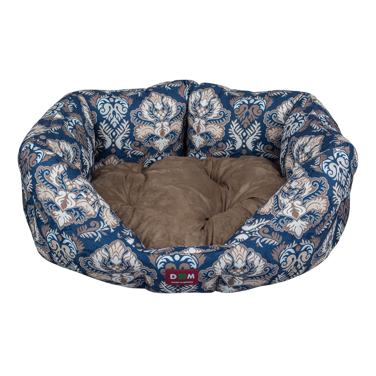 "Лежак для животных Dogmoda ""Барон"", цвет: синий, коричневый, 52 х 48 х 20 см"
