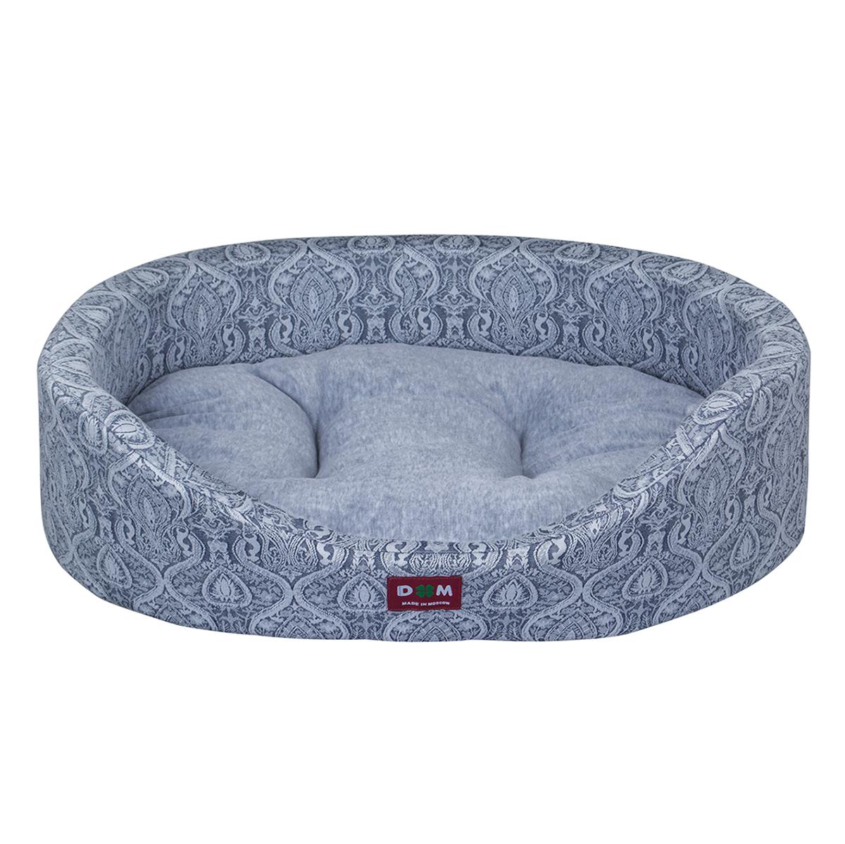 Лежак для животных Dogmoda Дуэт, цвет: серый, 60 x 48 x 12 смDM-160278-2Лежак для животных Dogmoda Дуэт прекрасно подойдет для отдыха вашего домашнего питомца. Предназначен для собак мелких и средних пород и кошек. Изделие выполнено из жаккарда с изысканным узором, внутри - мягкий наполнитель из поролона, который обеспечивает комфорт и уют. Лежак снабжен съемной велюровой подушкой с холлофайбером внутри. Изделие имеет высокие бортики. Комфортный и уютный лежак обязательно понравится вашему питомцу, животное сможет там отдохнуть и выспаться. Высокий уровень комфорта, спокойный благородный цвет и мягкость сделают этот лежак любимым местом отдыха вашего питомца.