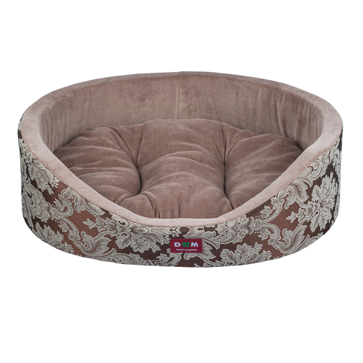 Лежак для животных Dogmoda Классика, 60 x 50 x 16 смDM-160277-3Лежак для животных Dogmoda Классика прекрасно подойдетдля отдыха вашего домашнего питомца. Предназначен длясобак мелких и средних пород и кошек. Изделие выполненоиз жаккарда с изысканным узором, внутри - мягкийнаполнитель из поролона, который обеспечивает комфорт иуют. Лежак снабжен съемной велюровой подушкой схоллофайбером внутри. Изделие имеет высокие бортики.Внешняя сторона выполнена из ткани, которая пестритвитиеватыми узорами, смотрится очень нарядно и помпезно.Комфортный и уютный лежак обязательно понравитсявашему питомцу, животное сможет там отдохнуть ивыспаться.Высокий уровень комфорта, спокойный благородный цвет имягкость сделают этот лежак любимым местом отдыхавашего питомца.