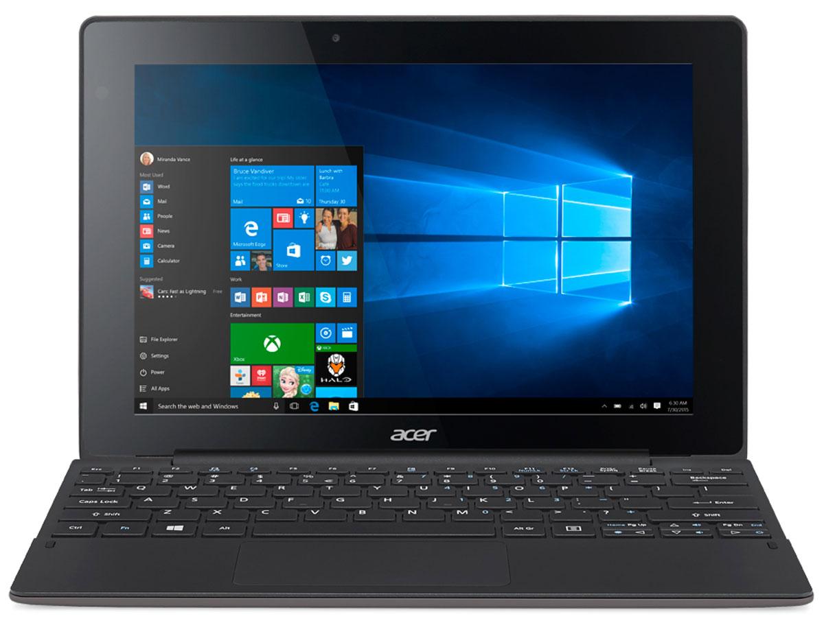 Acer Aspire Switch 10 E (SW3-016-12MS)NT.G8VER.001Acer Aspire Switch 10 E оснащен тщательно продуманным механизмом крепления, который позволяет отсоединять и присоединять клавиатуру одним движением, без малейших усилий. Переключайтесь с легкостью между четырьмя режимами: ноутбук, планшет, презентация и дисплей. Процессор Intel Atom x5 Cherry Trail обеспечивает более высокое качество графики и улучшенную производительность для игр, а также энергоэффективность. Это устройство 2-в-1 работает под управлением ОС Windows 10 и поддерживает функцию Continuum, которая автоматически переключает пользовательский интерфейс из режима планшета в режим ноутбук.Технология Acer SwitchLock позволяет защитить жесткий диск в модуле клавиатуры и сделать так, чтобы он работал только с соответствующим планшетным модулем. Планшетный модуль выполняет функцию ключа для жесткого диска. Просто отсоедините планшетный модуль от клавиатуры, и жесткий диск будет заблокирован. Все ваши данные будут надежно защищены от кражи. Для снятия блокировки достаточно снова присоединить планшетный модуль.Acer Aspire Switch 10 E создан с применением технологии Acer VisionCare, позволяющей включить защитный экран Acer BluelightShield, который уменьшает синее свечение экрана и предотвращает утомление глаз во время долгой работы. Технология Acer LumiFlex автоматически увеличивает контрастность при работе в условиях прямого солнечного освещения, в том числе вне помещений — вам больше не придется щуриться, чтобы рассмотреть изображение на экране!HD-экран с технологией IPS обеспечивает четкое изображение независимо от угла обзора. Экран защищен сверхпрочным стеклом Gorilla Glass, устойчивым к царапинам и делающим их менее заметными. Двойные динамики обеспечивают отличное качество звука, а две камеры позволяют с легкостью совершать видеозвонки.Планшет сертифицирован EAC и имеет русифицированный интерфейс, меню и Руководство пользователя.