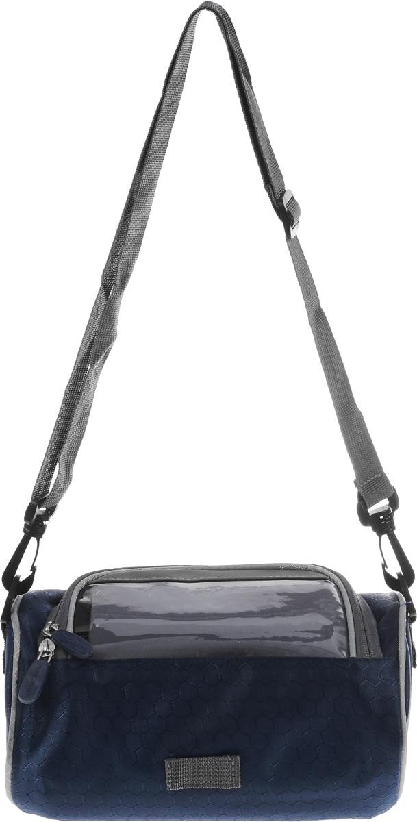 Велоорганайзер Homsu, 22 x 14 x 11 смHOM-606Велоорганайзер Homsu имеет 1 вместительное отделение с прозрачным карманом для смартфона внутри и крепеж на руль велосипеда. Универсальная сумка имеет множество различных кармашков и креплений, особенно для велосипеда! Обладает надежными застежкам на молниях, все необходимые вещи будут в полном порядке, защищенными от любых внешних факторов, в том числе и от дождя. Также органайзер оснащен съемным ремнем для переноски в руках или на плече.