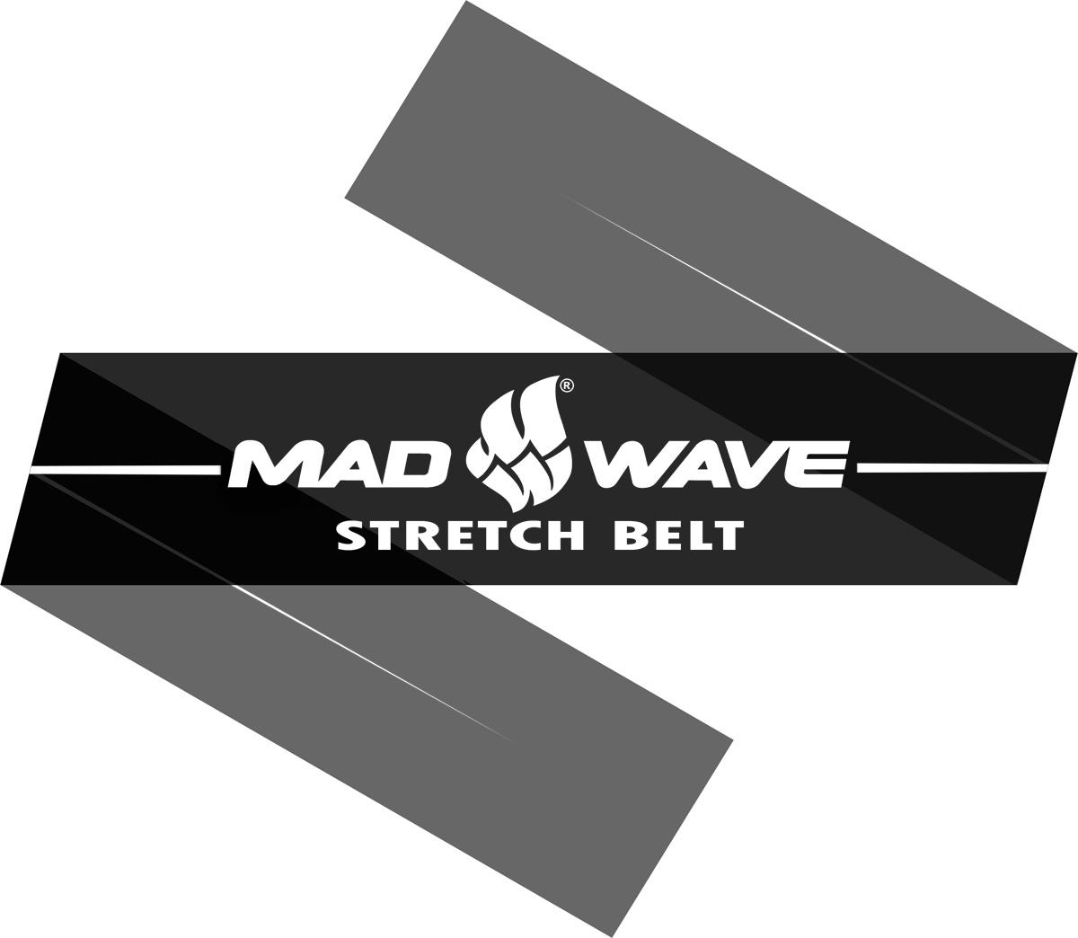 Эспандер Mad Wave Stretch Band, цвет: черный, 150 см х 15 см х 0,04 см