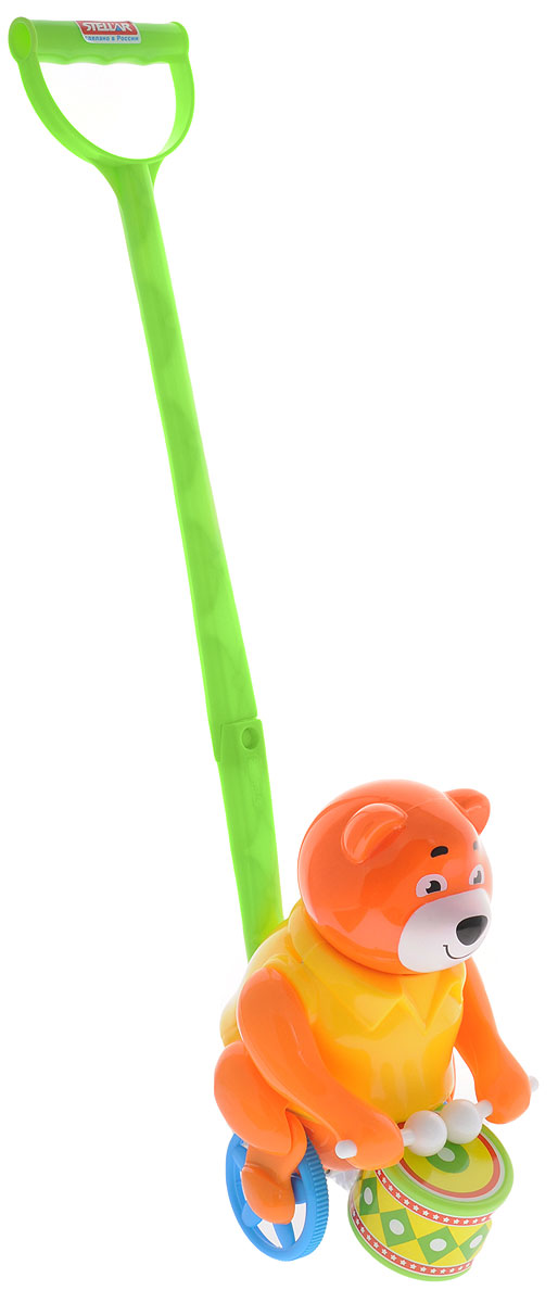 Stellar Игрушка-каталка Барабанщик цвет оранжевый желтый каталка stellar вертолетик 01376