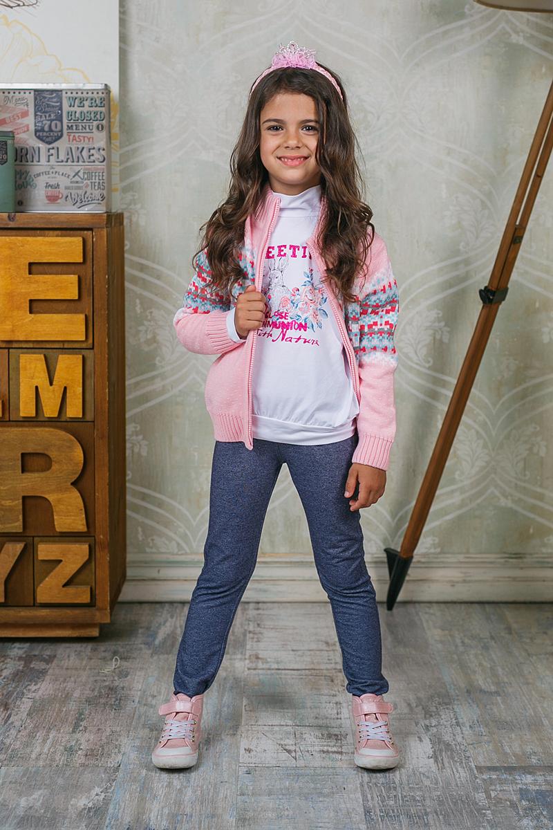 Кофта для девочки Sweet Berry, цвет: розовый. 205481. Размер 122205481Теплая кофта Sweet Berry для девочки изготовлена из вязаного трикотажа с оригинальным узором. Модель с воротником-стойкой, надежно защищающим от ветра, застегивается на молнию. Воротник, манжеты рукавов и низ кофты связаны широкой резинкой.