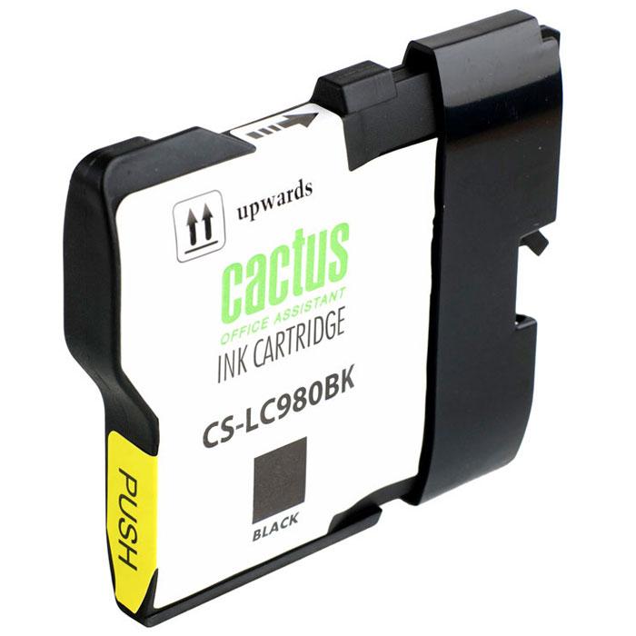 Cactus CS-LC980BK, Black картридж струйный для Brother DCP-145C/165C/MFC-250C/290CCS-LC980BKКартридж Cactus CS-LC980BK для струйных принтеров Brother DCP-145C/165C/MFC-250C/290C.Расходные материалы Cactus для струйной печати максимизируют характеристики принтера. Обеспечивают повышенную чёткость цвета и плавность переходов оттенков и полутонов, позволяют отображать мельчайшие детали изображения. Обеспечивают надежное качество печати.