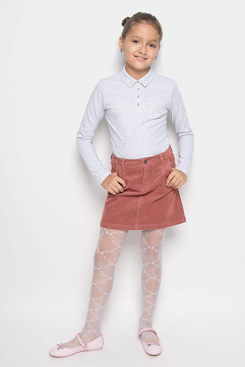Юбка для девочки Sela, цвет: пепельно-розовый. SK-618/013-6342. Размер 128, 8 летSK-618/013-6342Модная юбка Sela идеально подойдет вашей моднице и станет отличным дополнением к ее гардеробу. Изготовленная из хлопка с добавлением эластана, она мягкая и приятная на ощупь, не сковывает движения и позволяет коже дышать, не раздражает нежную кожу ребенка, обеспечивая наибольший комфорт. Модель-мини застегивается на пуговицу в поясе и ширинку на застежке-молнии. С внутренней стороны пояс регулируется эластичной резинкой. На поясе предусмотрены шлевки для ремня. Спереди модель дополнена двумя втачными карманами, сзади - двумя накладными карманами. В такой модной юбке ваша дочурка будет чувствовать себя комфортно и всегда будет в центре внимания!