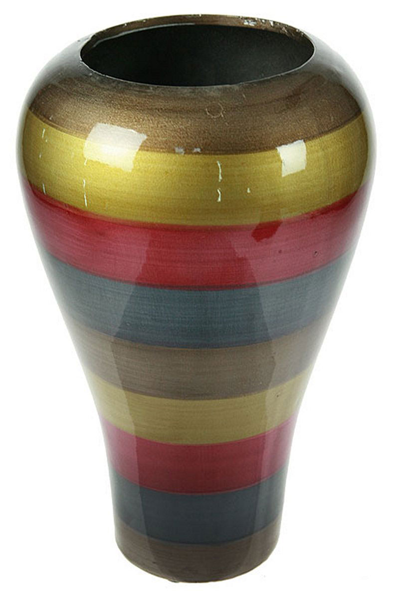 Ваза Русские Подарки, высота 30 см. 115910115910Ваза Русские Подарки, выполненная из керамики, украсит интерьер вашего дома или офиса. Оригинальный дизайн и красочное исполнение создадут праздничное настроение.Такая ваза подойдет и для цветов, и для декора интерьера. Кроме того - это отличный вариант подарка для ваших близких и друзей.Правила ухода: мыть теплой водой с применением нейтральных моющих средств. Размер вазы: 19 х 19 х 30 см.
