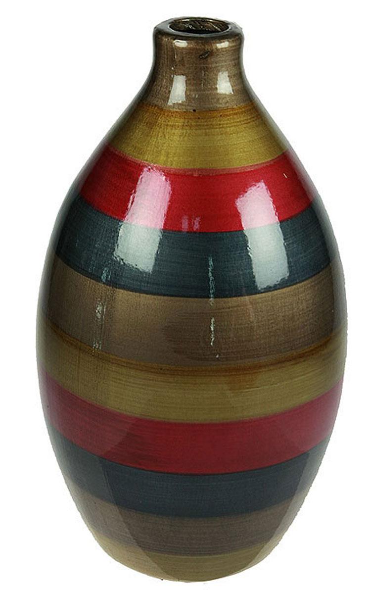 Ваза Русские Подарки, высота 31 см. 115915115915Ваза Русские Подарки, выполненная из керамики, украсит интерьер вашего дома или офиса. Оригинальный дизайн и красочное исполнение создадут праздничное настроение.Такая ваза подойдет и для цветов, и для декора интерьера. Кроме того - это отличный вариант подарка для ваших близких и друзей.Правила ухода: мыть теплой водой с применением нейтральных моющих средств. Размер вазы: 18 х 18 х 31 см.