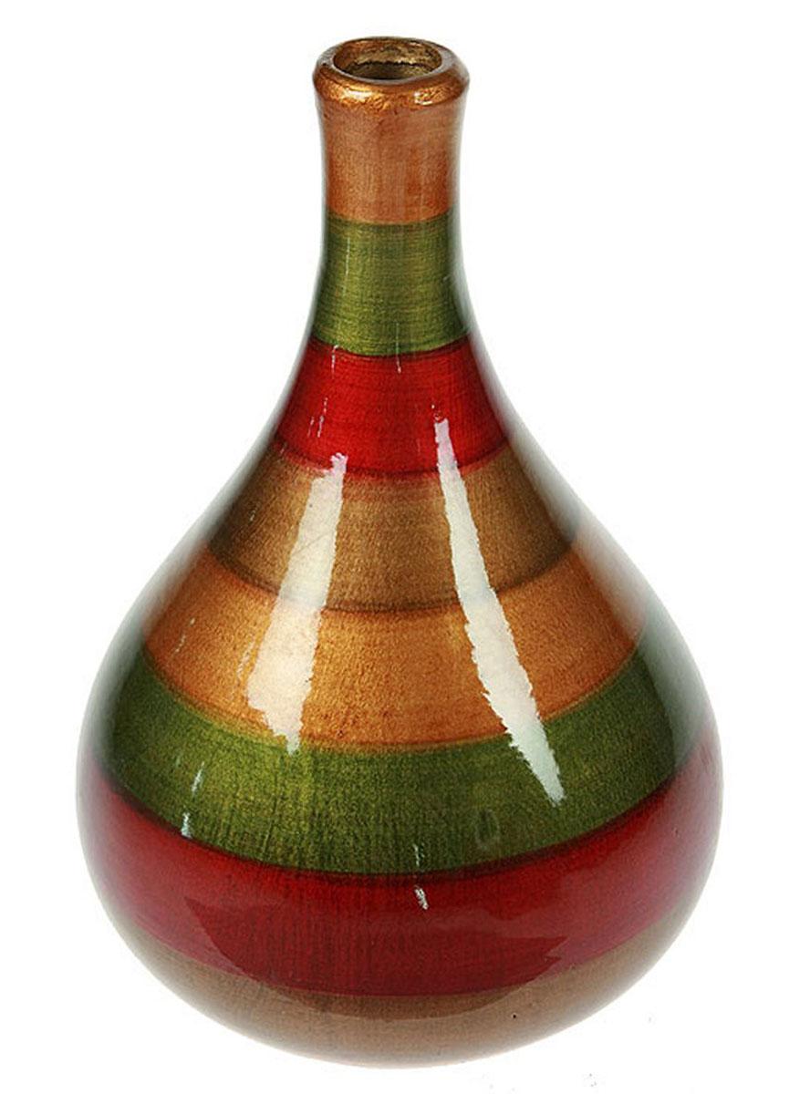 Ваза Русские Подарки, высота 27 см. 115920115920Ваза Русские Подарки, выполненная из керамики, украсит интерьер вашего дома или офиса. Оригинальный дизайн и красочное исполнение создадут праздничное настроение.Такая ваза подойдет и для цветов, и для декора интерьера. Кроме того - это отличный вариант подарка для ваших близких и друзей.Правила ухода: мыть теплой водой с применением нейтральных моющих средств. Размер вазы: 18 х 18 х 27 см.